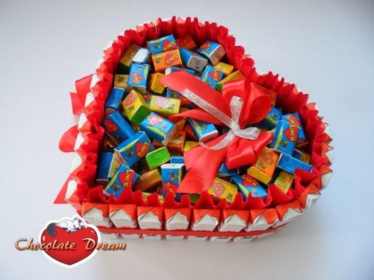 Поздравление из конфет и шоколада фото 537
