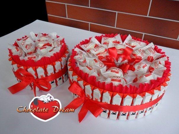 Поздравление из конфет и шоколада фото 847