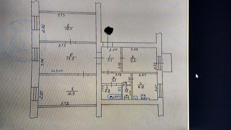 Продам 3-х 5/7лифт жб-100%м.Советская -2мин.80м2 элит.