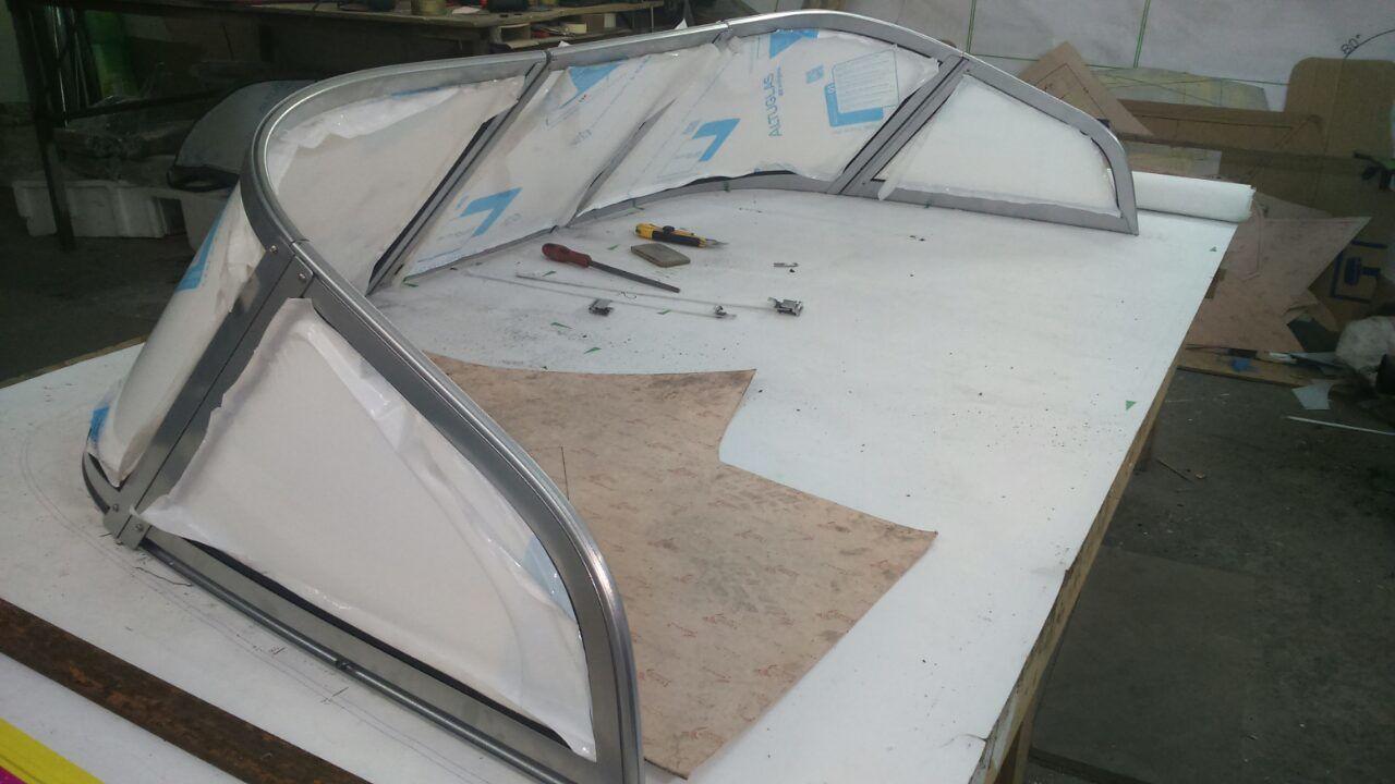 Изготовление лобового стекла на лодку своими руками 77