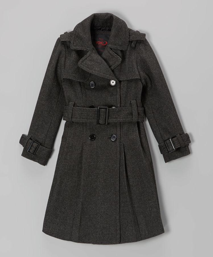 Стильное пальто YOKI на 8-10 лет