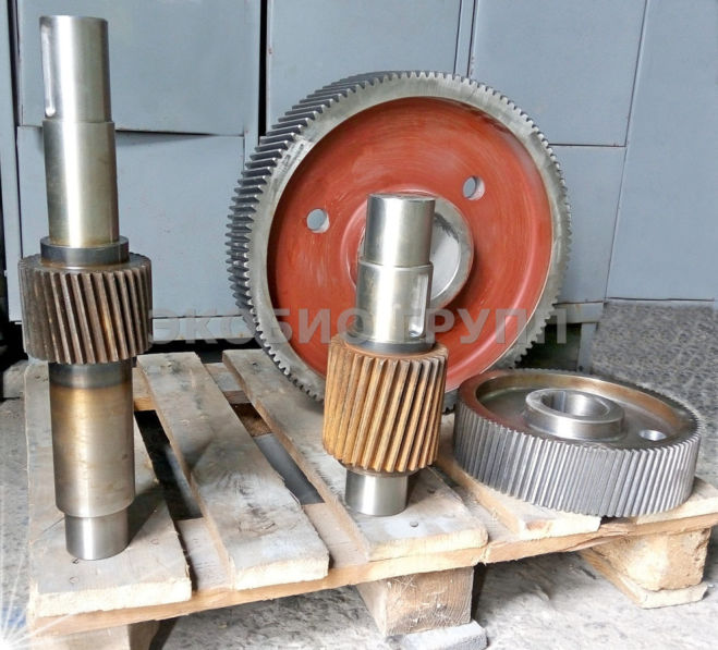 Комплект шестерен редуктора гранулятора ОГМ 1,5