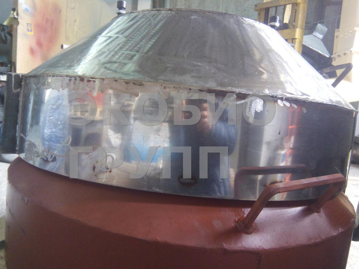 Передняя крышка гранулятора ОГМ 1,5 (нержавейка)