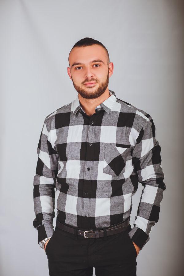 a755c30936b Купить сейчас - Модная черно белая в большую клетку рубашка ZARA ...
