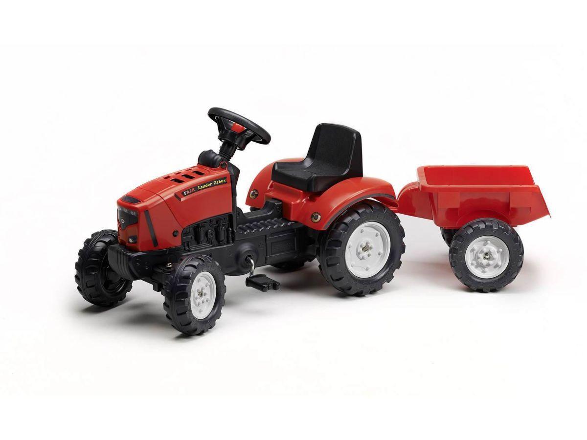 Трактор  Falk на педалях с прицепом Lander с 2 до 5лет