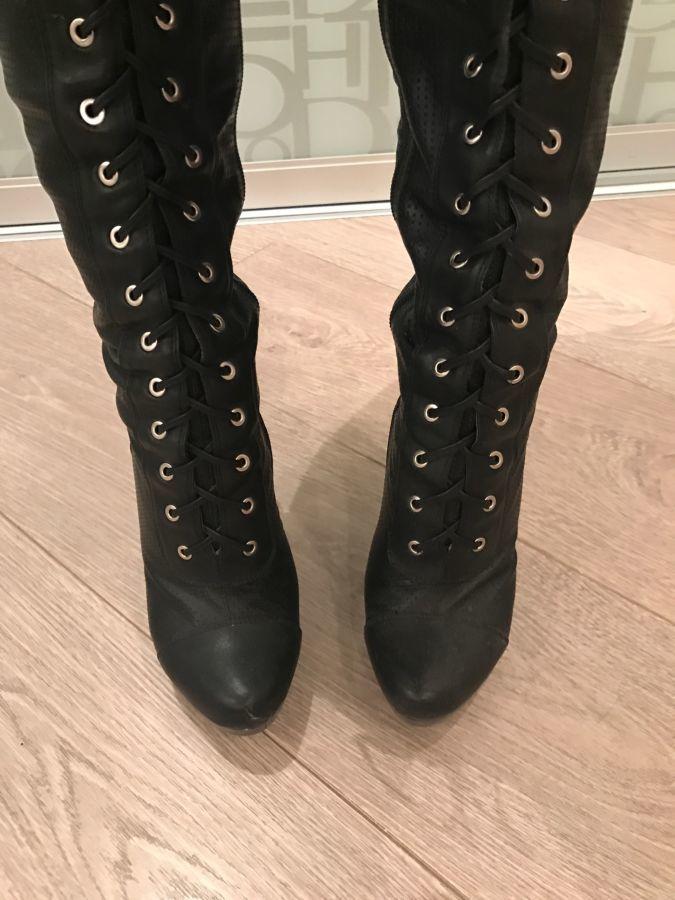 8ee83eec9d61 Продам крутые ботфорты на шнуровке: 250 грн. - Сапоги Одесса - объявления  на ...