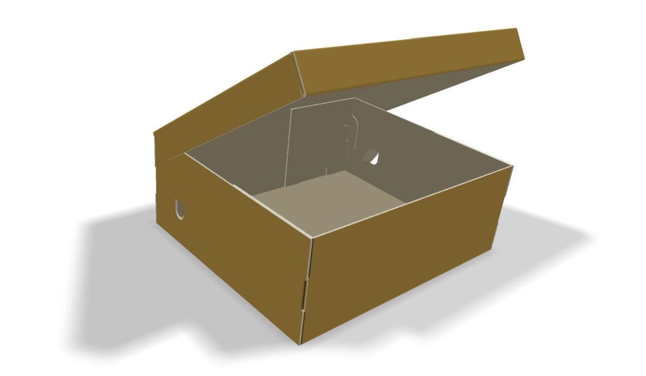 Коробка для обуви 260х170х100 бурая