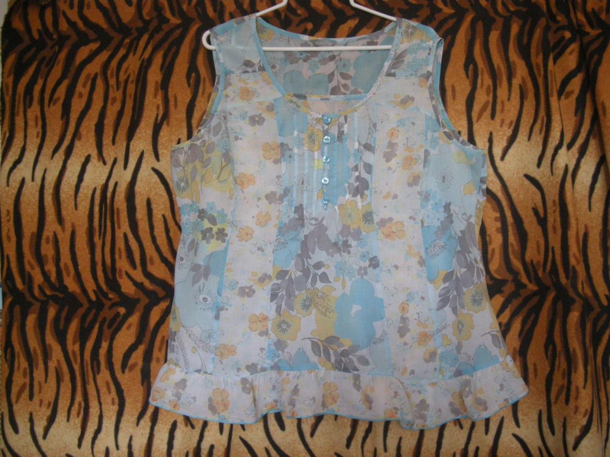 """Фото - Супер блуза""""per una""""р.22,100%коттон."""
