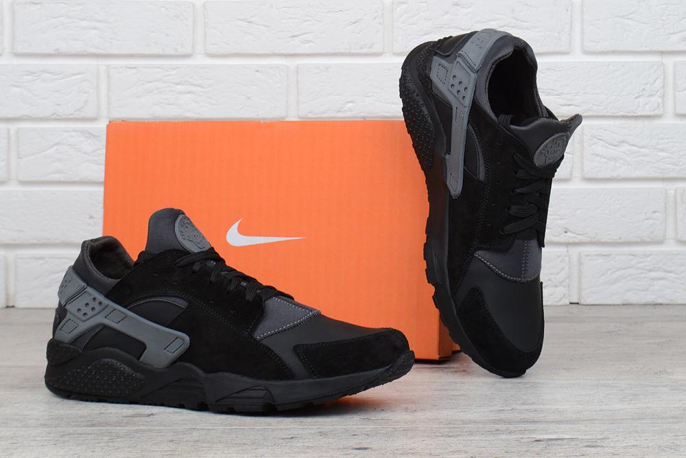 1cd57676 Кроссовки мужские кожаные Nike Huarache black&gray: 1 299 грн ...