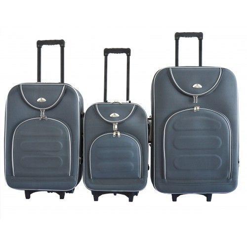 33d0d89f6a74 Чемодан сумка дорожний Bonro набор 3 штуки Цвет: темно-серый.: 1 645 ...