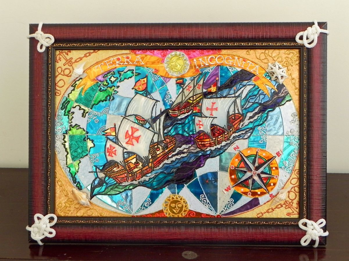 Панно-сувенир «Эскадра Колумба»