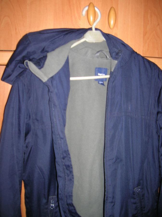 Куртка GAP KIDS на 13 лет рост160см с капюшоном на флисе синяя