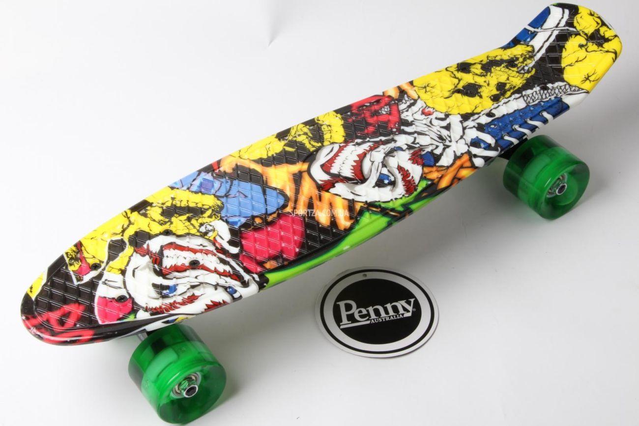 c59e0e886299 Скейт Пенни Борд Print, 22 c Рисунком Joker Светящие колеса  630 грн ...