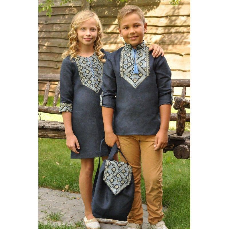 ea83d1f124b962 Купити зараз - Вишиванка для хлопчика та сукня для дівчинки: 1 430 ...
