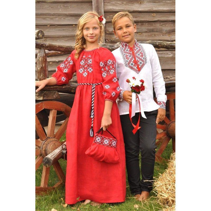 af190715f912ed Купити зараз - Вишиванка для хлопчика та сукня для дівчинки: 1 870 ...