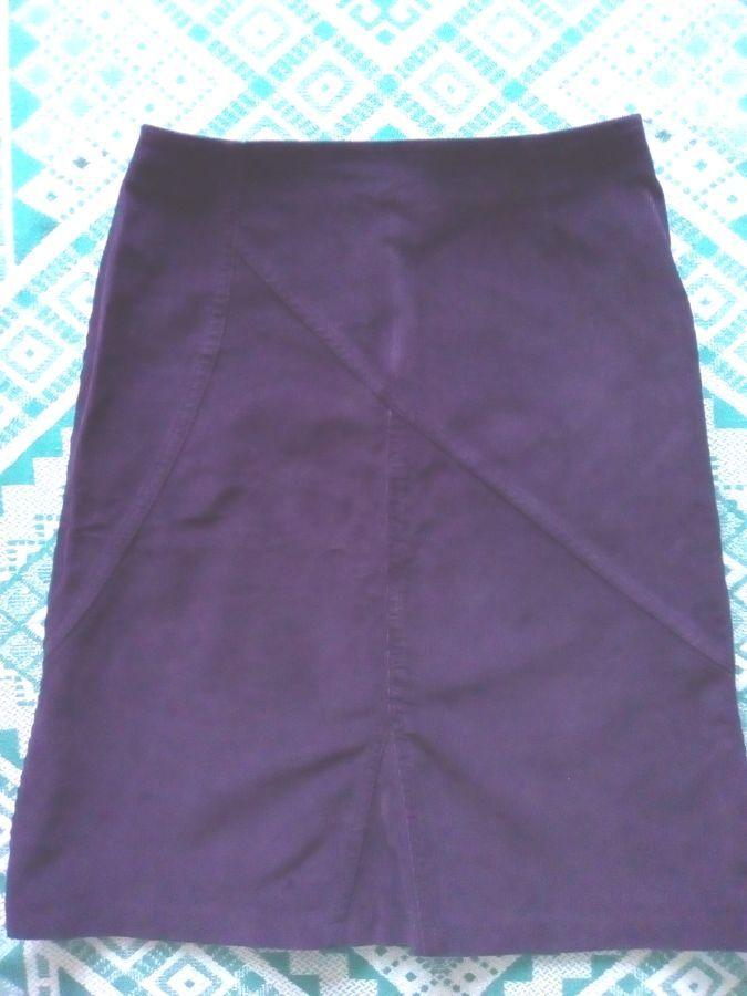 Новая вельветовая классическая юбка х/б 42 р, сделано в Украине