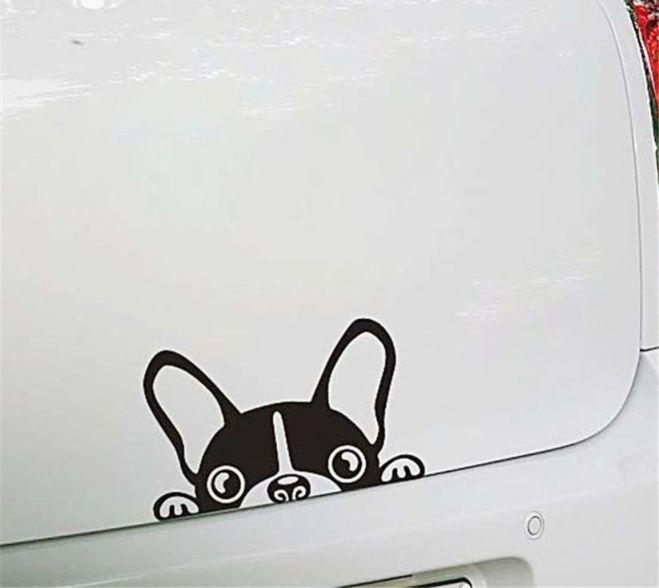 Наклейка на авто Собачка светоотражающая Тюнинг авто 7