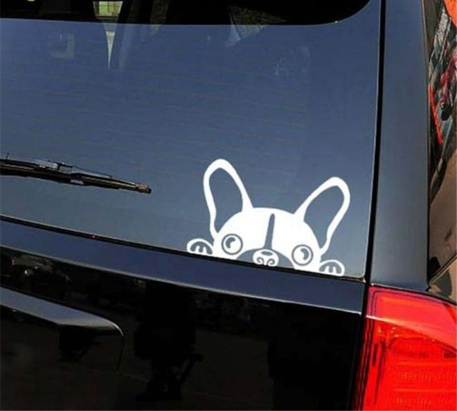 Наклейка на авто Собачка светоотражающая Тюнинг авто 8