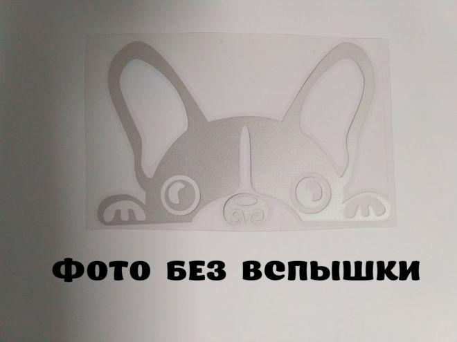 Наклейка на авто Собачка светоотражающая Тюнинг авто 6