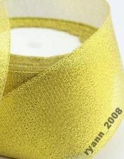 Лента парча ширина 3,8 см. золото и серебро цена за бабину