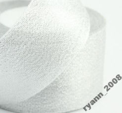 Лента парча ширина 2,5 см.  золото и серебро цена за бабину
