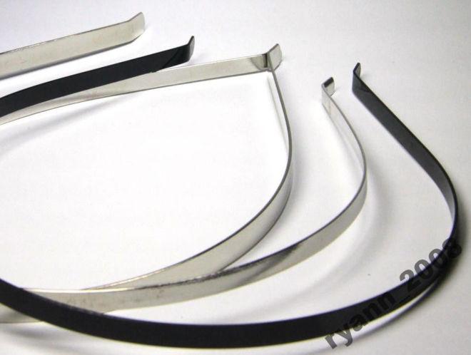 Обруч основа для рукоделия, металический 0,5 см, черный / белый