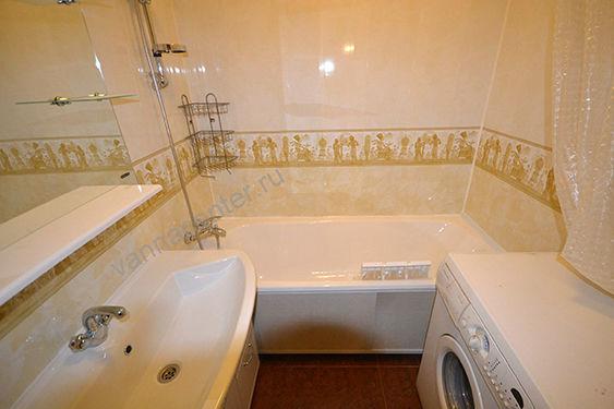 Ванная комната дизайн из пластиковых панелей фото