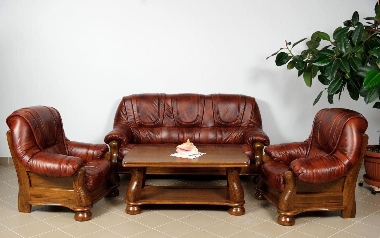 Новый кожаный комплект Venecia - Кожаная мебель с Европы, диван кресла