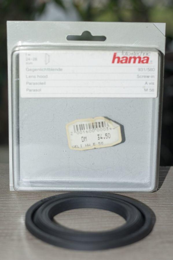 Бленда резиновая широкоугольная, «HAMA», 58mm.