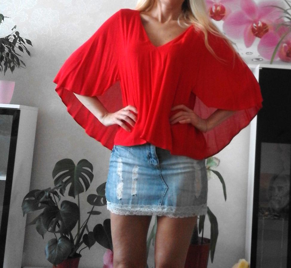 4f13a3c740b Стильная красная блуза zara  179 грн. - Блузки
