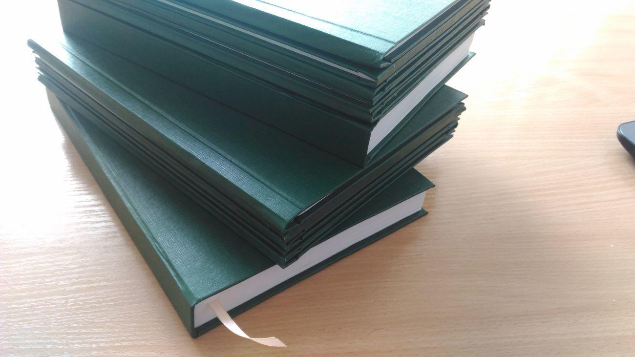 Переплет дипломов, архивных дел