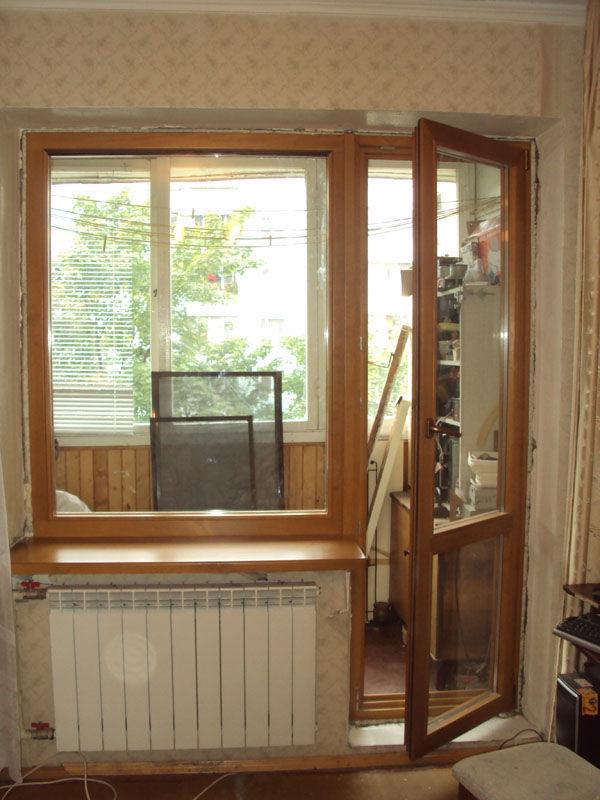 Деревянные балконные блоки, балконная дверь: договорная - де.