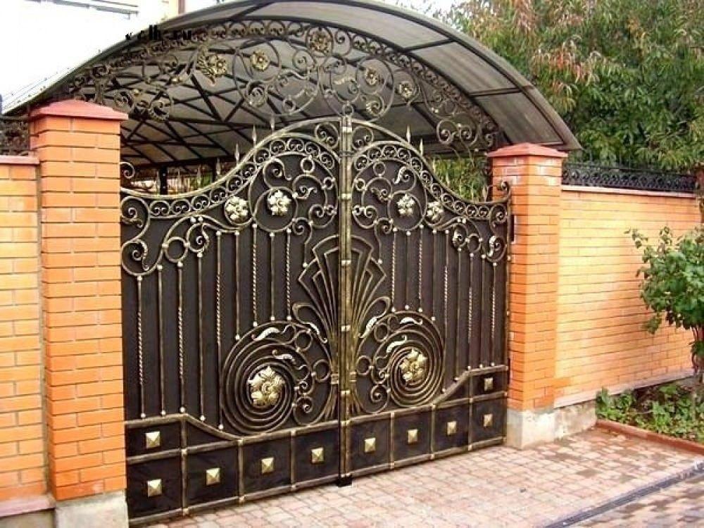 Дизайн ворота калитки заборы и