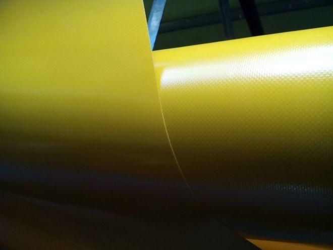 Тентовая ткань пвх. Жёлтый.