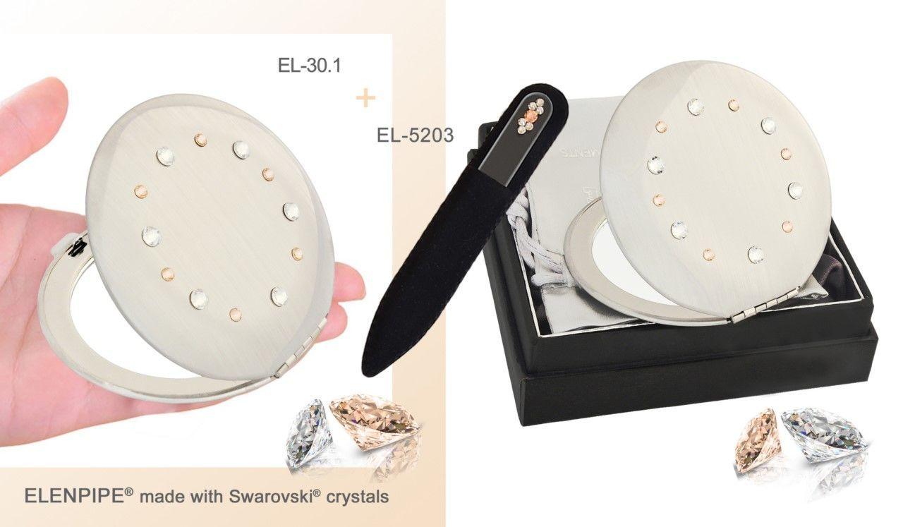 Наборы зеркальце и пилочка маникюрная Swarovski® crystals