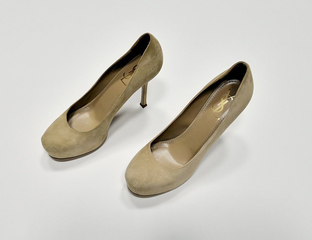 723e6b3d3ced Туфли Yves Saint Laurent, оригинал, новые, замшевые, цвет - бежевый.