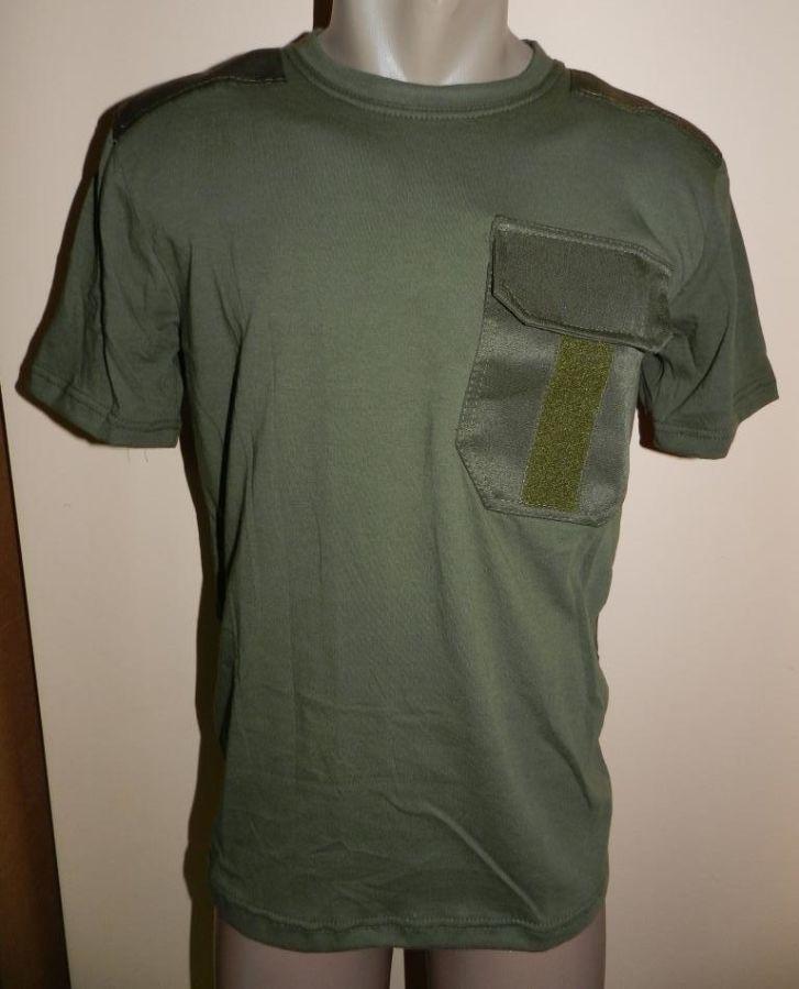 77fe02b705a9b Футболки Олива с нагрудным карманом и липучкой под погон от 10 штук ...