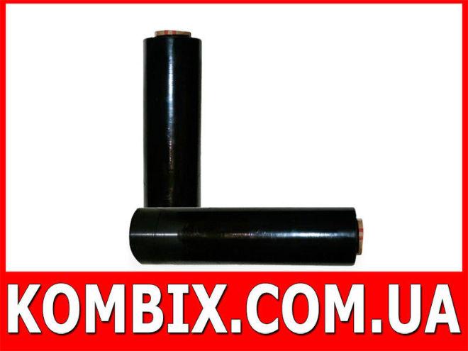 Стрейч пленка черная 192 метра: вес 2 кг|0,5 кг втулка