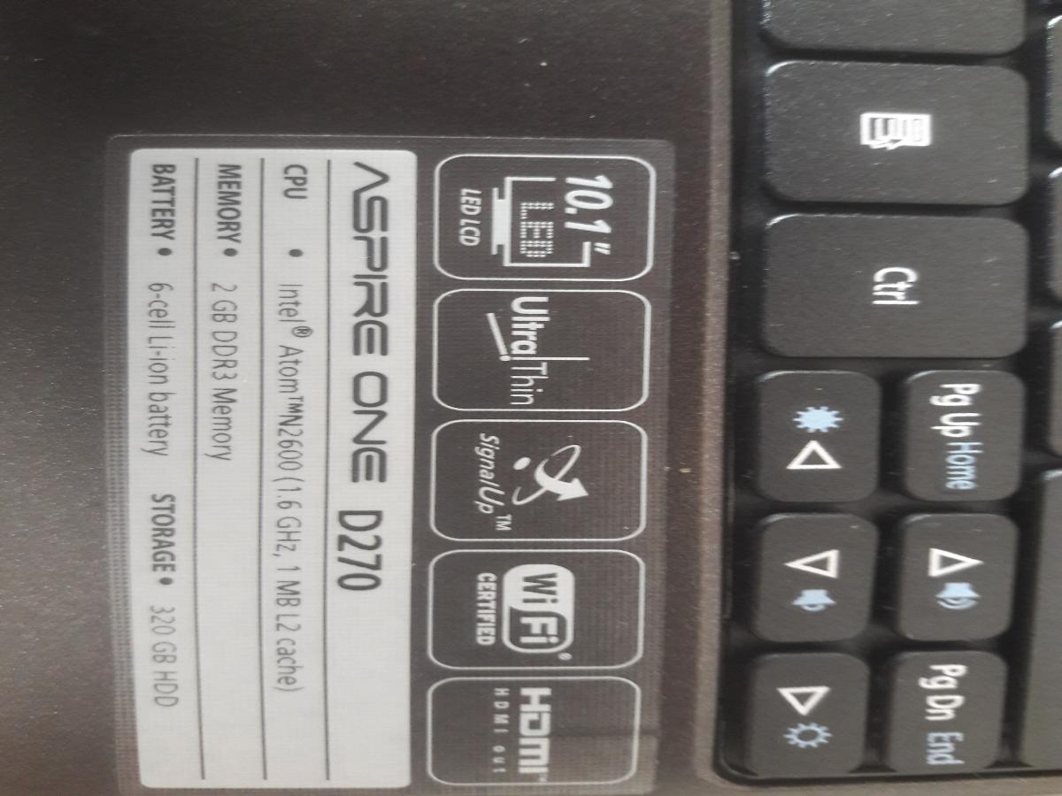 Нетбук в отличном состоянии Acer Aspire One D270-26Ckk Black