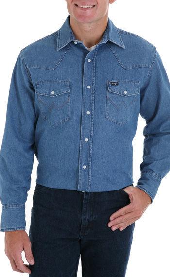 795b9ac9ca7 Джинсовые рубашки Wrangler (США)  1 176 грн. - Рубашки Днепр ...