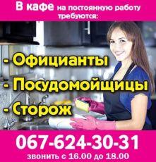 Официанты,  посудомойщицы,  сторож