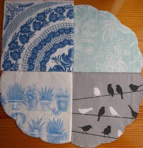 Салфетки для декупажа, в коллекцию, круглые, прямоугольные, квадратные