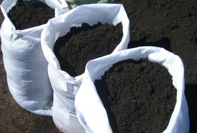 Чернозём плодородный в мешках. Доставка.