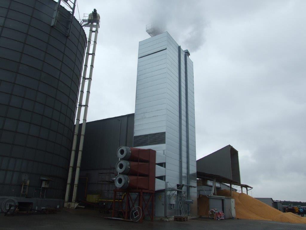 Шахтная энергосберегающая зерносушилка ARAJ (Польша)