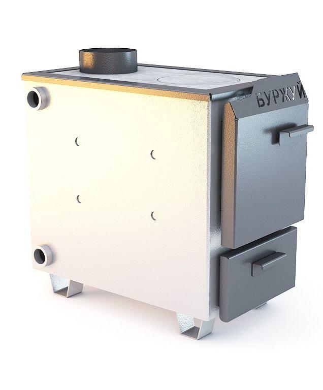 Котел твердотопливный БУРЖУЙ КП-10 (10 кВт, до 100 м2)