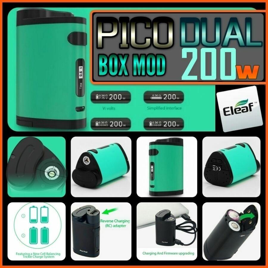 Pico Dual 200w Cyan. бокс мод на два акб 18650. оригинал от Eleaf