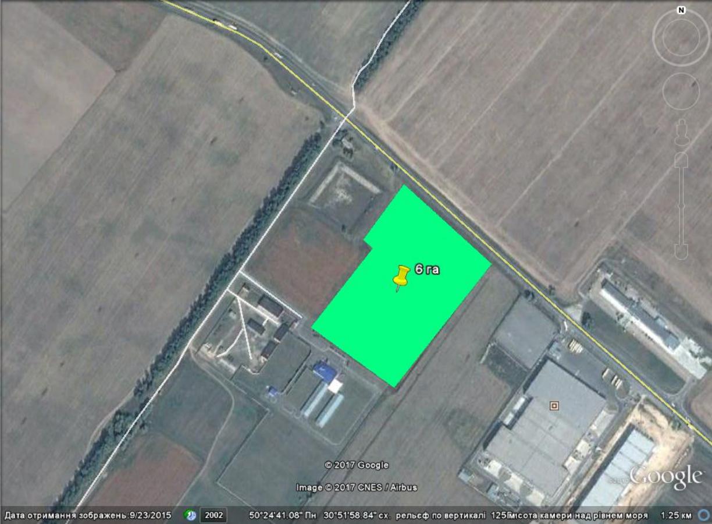 Продам фасадный участок 6,5 га на обьездной дороге Бровары-Борисполь.