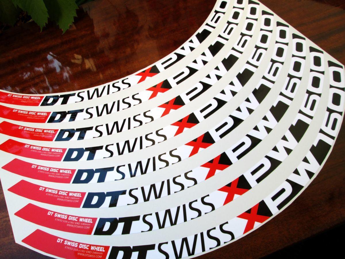Наклейки для велосипеда. Наклейки для ободов DT Swiss XPW1600