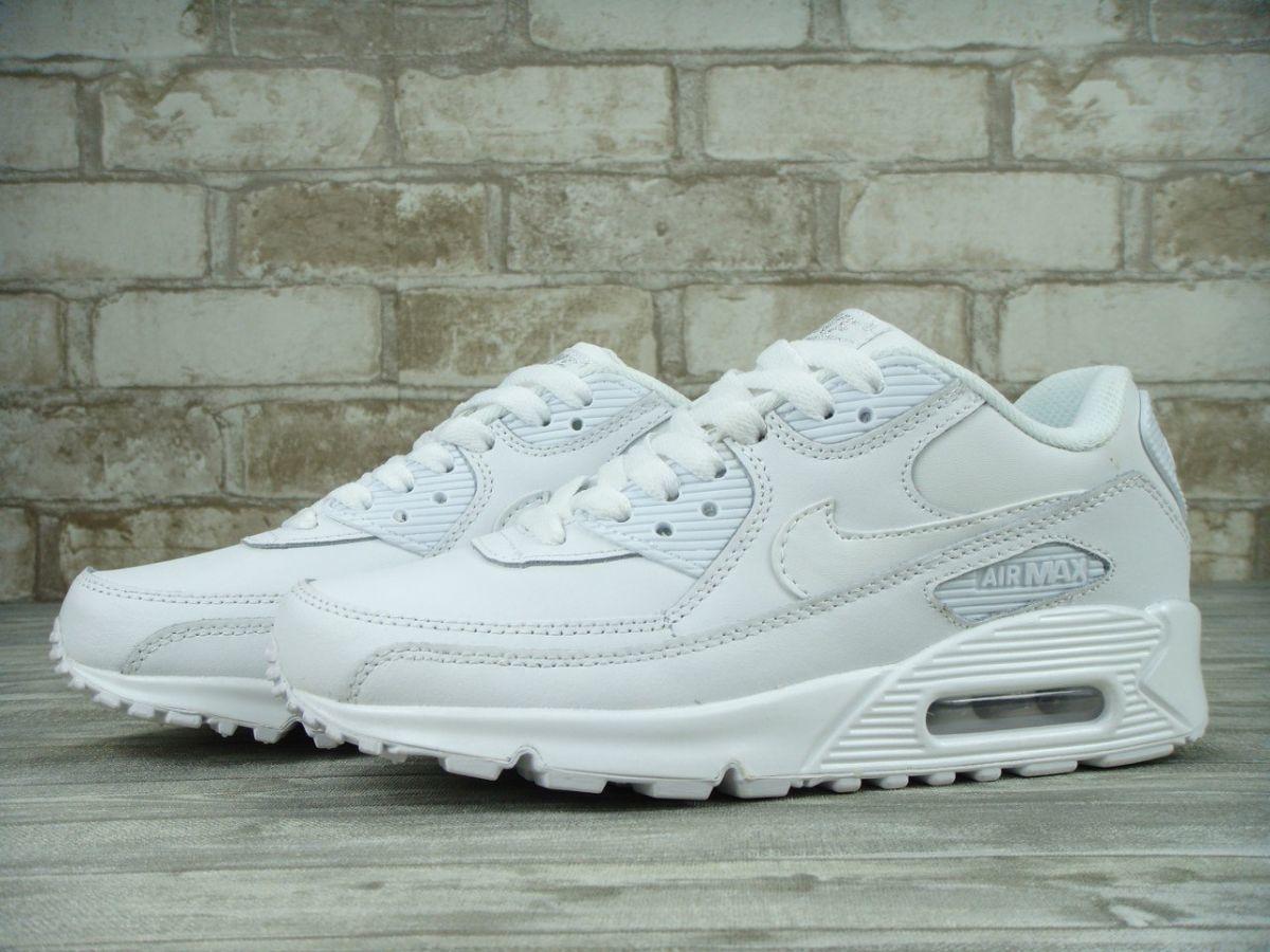 Женские кожаные кроссовки Nike Air Max 90 White есть все размеры акция ef016864f35
