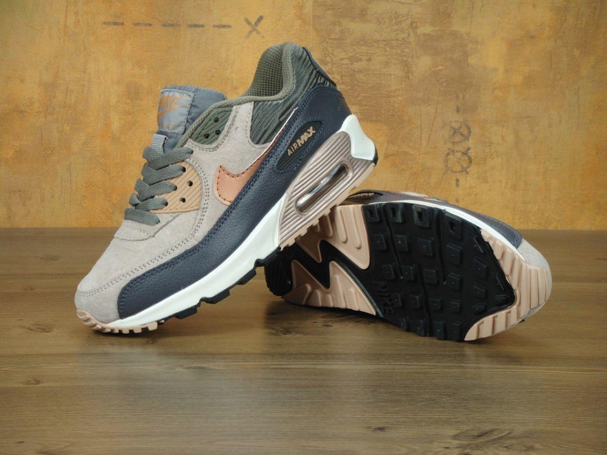 6b8bf85c Женские кроссовки Nike Air Max 90 Cream Gray распродажа все размеры ...